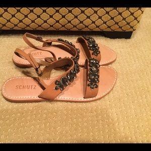 Schutz leather sandals size 38